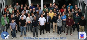 Participants and Speakers of the ESPResSo Summer School 2013.